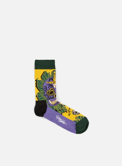 Sale Outlet Socks Happy Socks Megan Massacre Leaf Skull