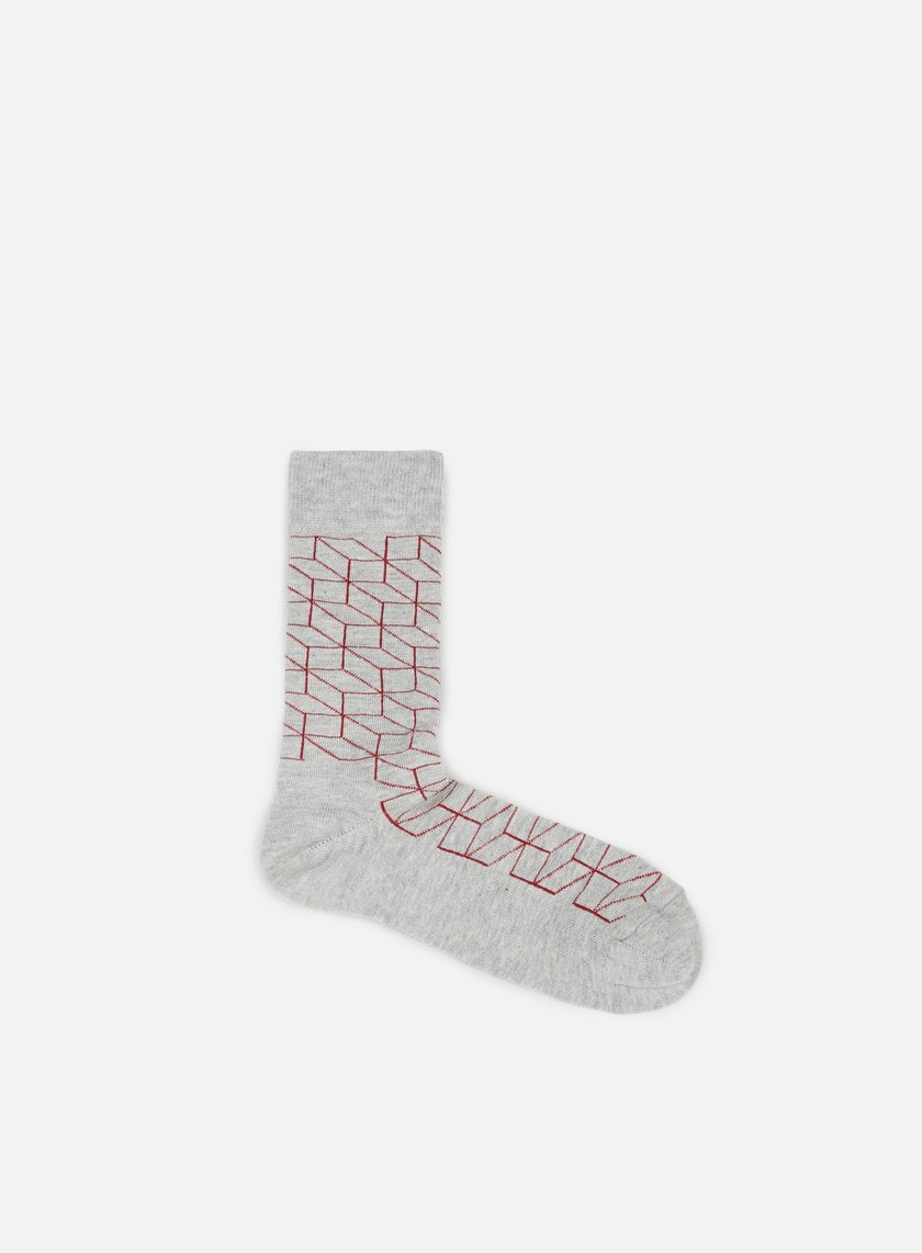 Happy Socks - Optic, Grey/Red