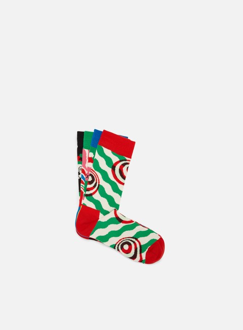 Happy Socks Psychedelic Candy Cane 4 Pack Gift Box