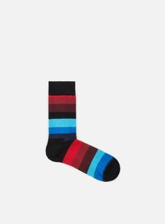 Happy Socks - Stripe, Black/Blue/Burgundy