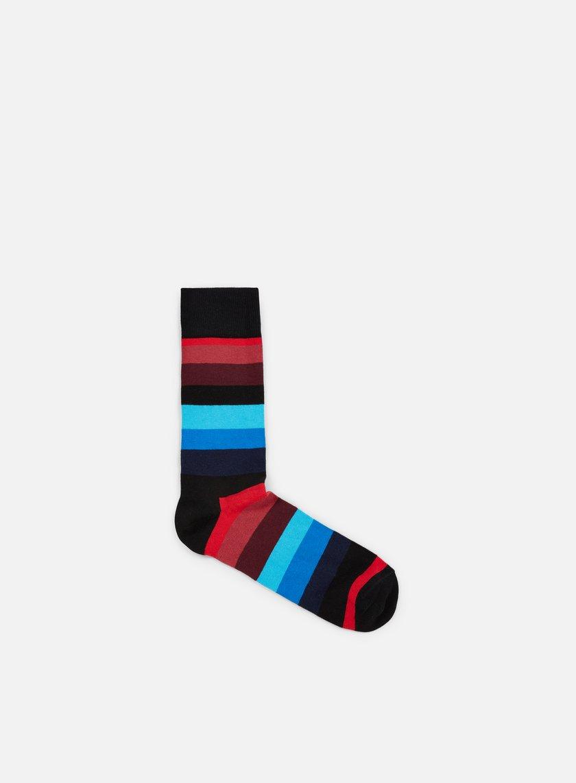 Happy Socks - Stripe, Black/Blue/Burgundy OLD NO CHILD