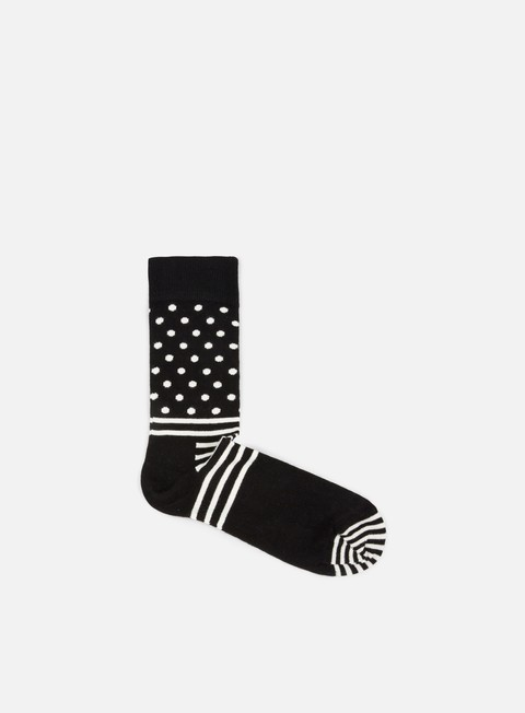 accessori happy socks stripe dot black white