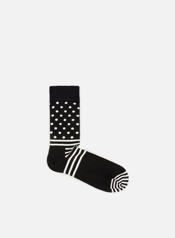 Happy Socks - Stripe Dot, Black/White