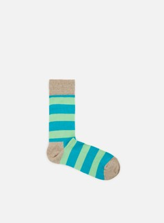 Happy Socks - Stripe, Light Grey/Teal/Light Green