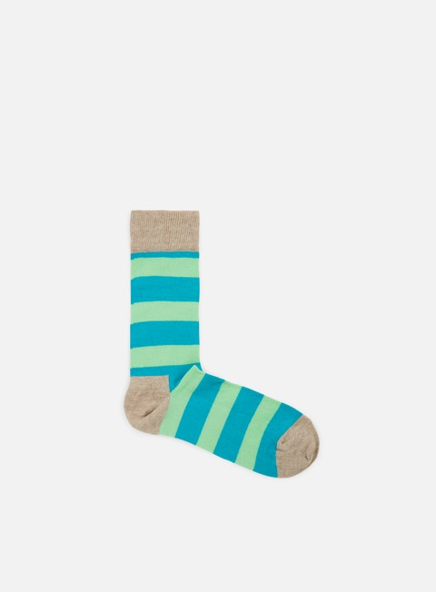 accessori happy socks stripe light grey teal light green
