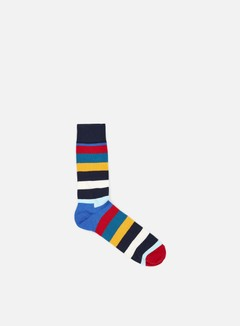 Happy Socks - Stripe, Navy/Blue/Multi