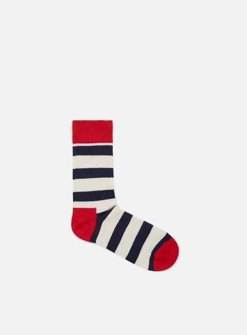 accessori happy socks stripe red cream navy