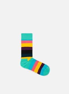 Happy Socks - Stripe, Teal/Multi