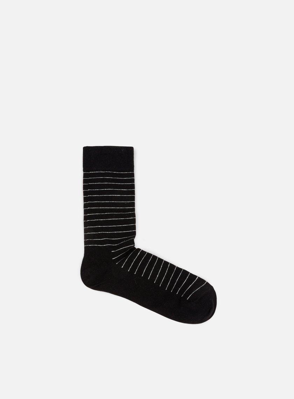 Happy Socks - Thin Stripe, Black/White