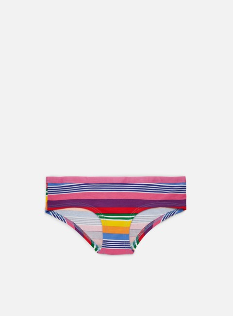 accessori happy socks wmns multi stripe hipster bikini pink multi