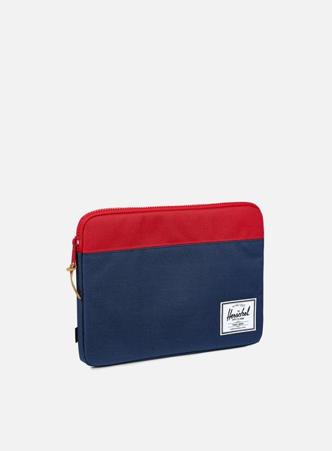 accessori herschel anchor sleeve macbook 13 navy red