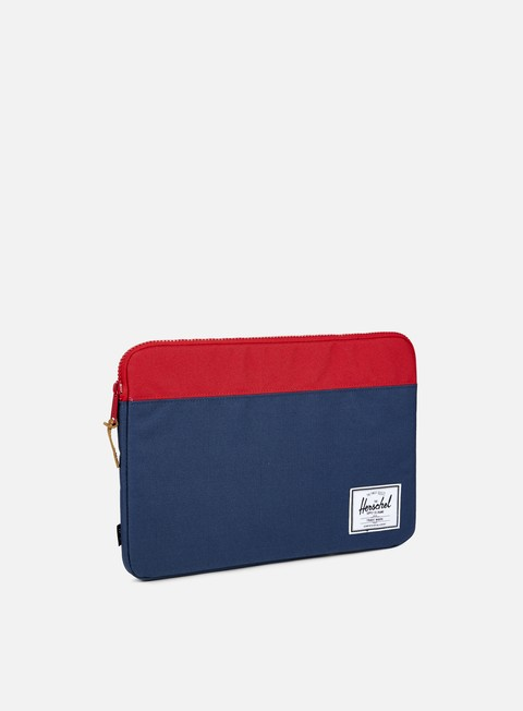 accessori herschel anchor sleeve macbook 15 navy red