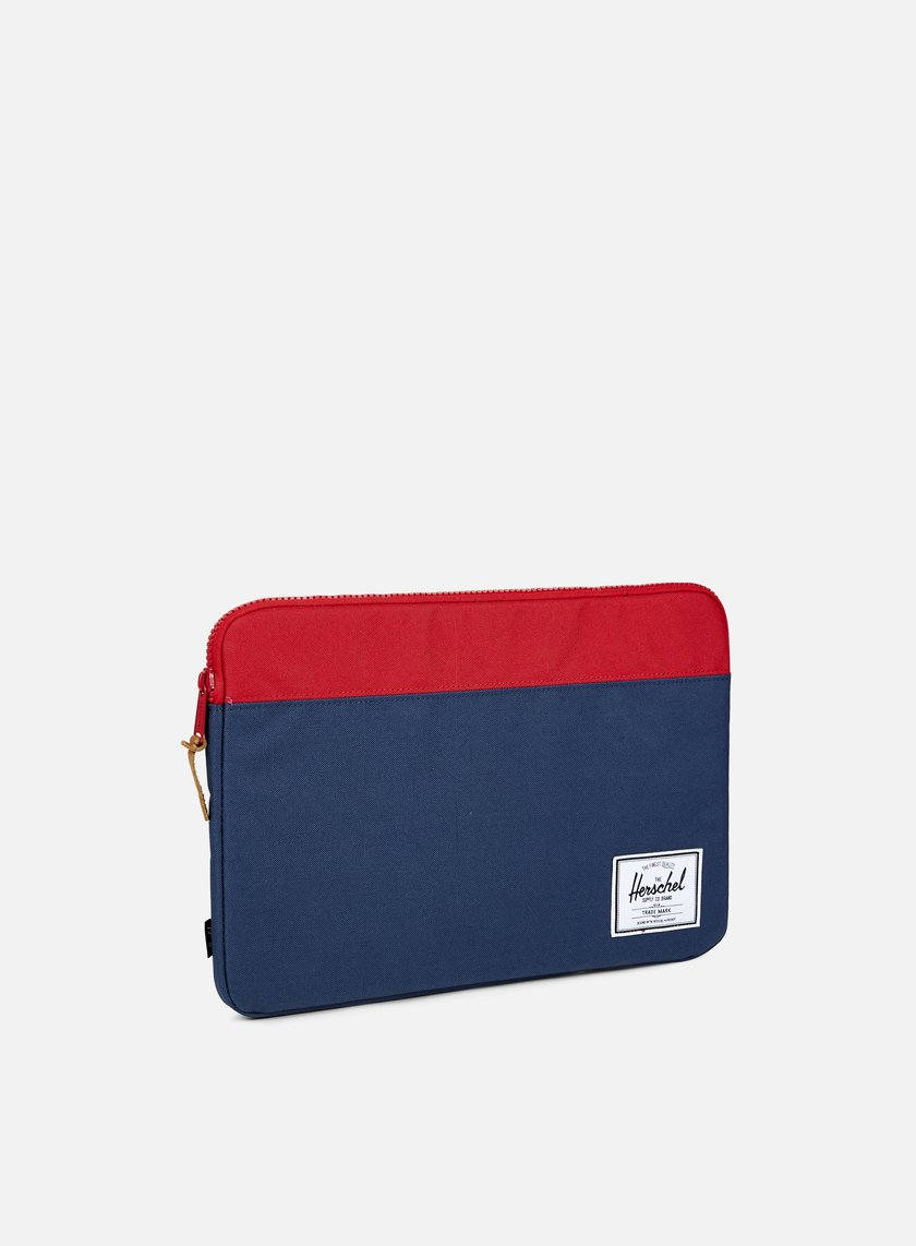 Herschel - Anchor Sleeve Macbook 15'', Navy/Red