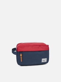 Herschel - Chapter Travel Kit Classic, Navy/Red