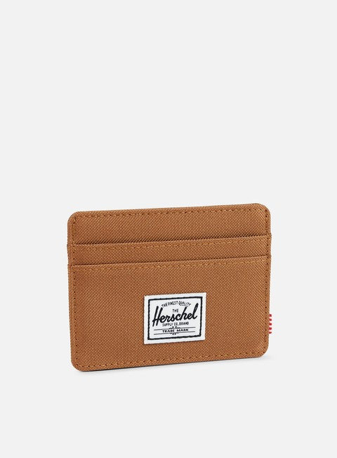 accessori herschel charlie card holder wallet caramel