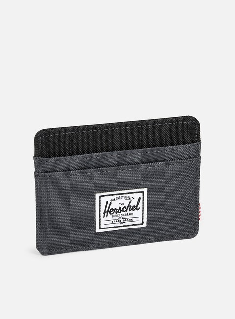 accessori herschel charlie card holder wallet dark shadow black