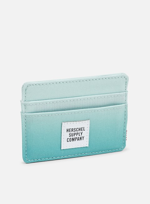 accessori herschel charlie card holder wallet gradient sunrise