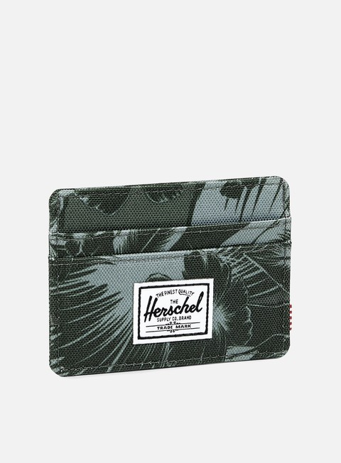 accessori herschel charlie card holder wallet jungle floral