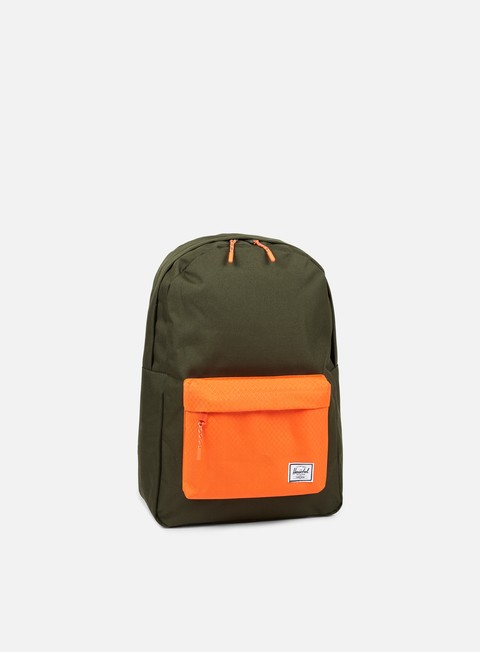 accessori herschel classic backpack classic forest night vermillion orange