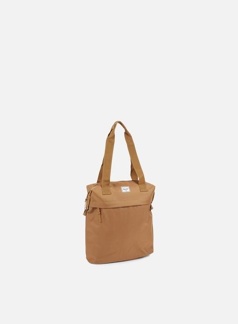 accessori herschel collins tote bag classic caramel