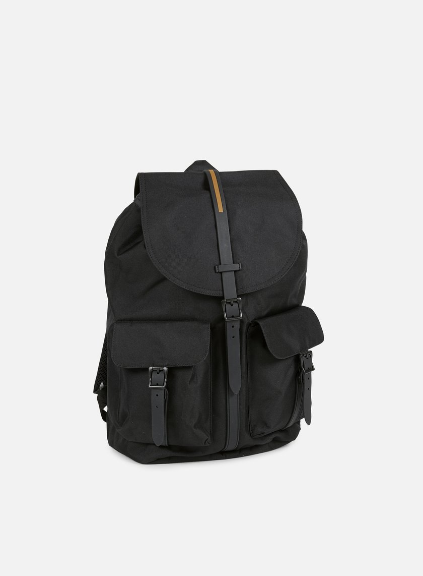 Herschel - Dawson Gum Rubber Backpack,  Black/Black
