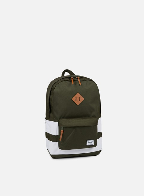 accessori herschel heritage backpack classic forest night white rugby stripe