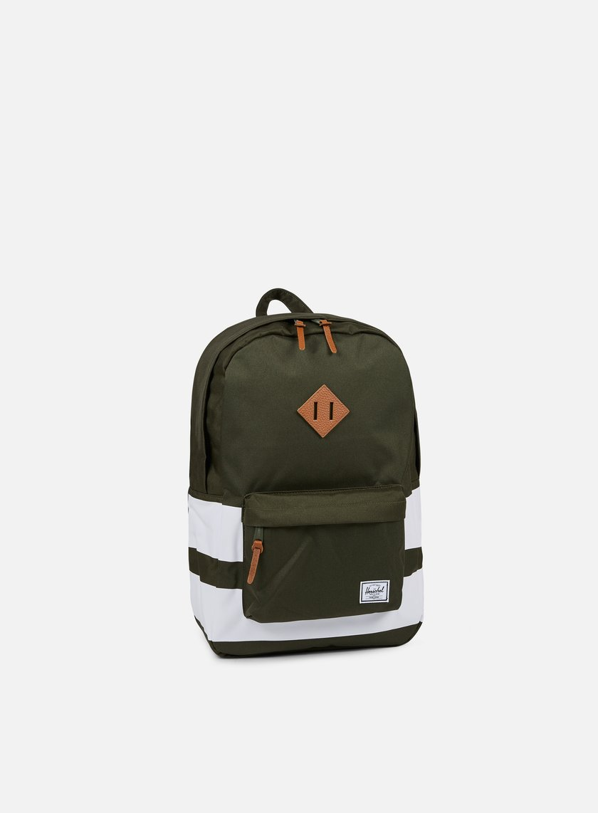 Herschel - Heritage Backpack Classic, Forest Night/White Rugby Stripe