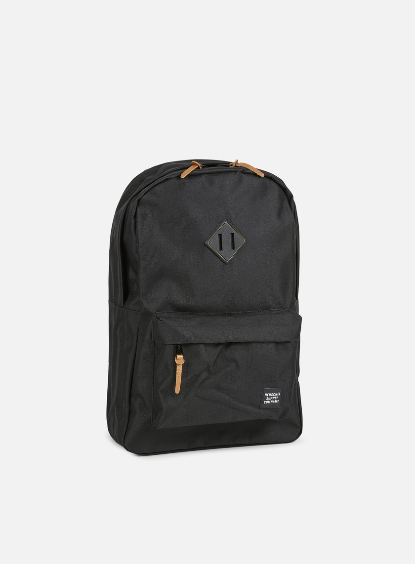 Herschel - Heritage Gum Rubber Backpack, Black/Black