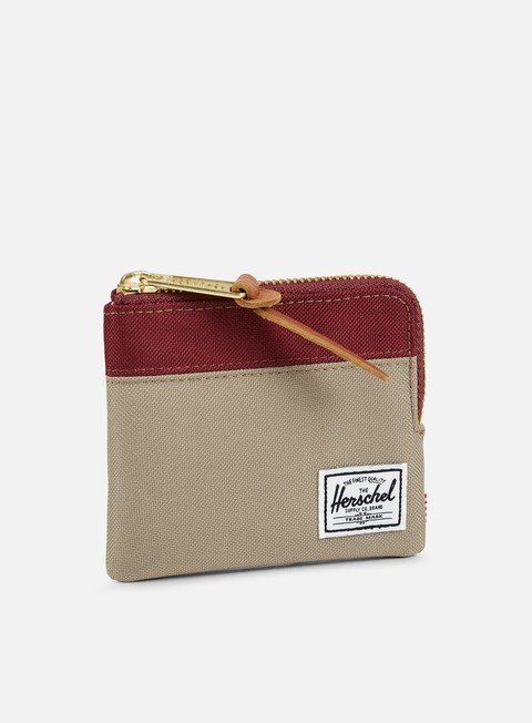 accessori herschel johnny pouch wallet brindle windsor wine