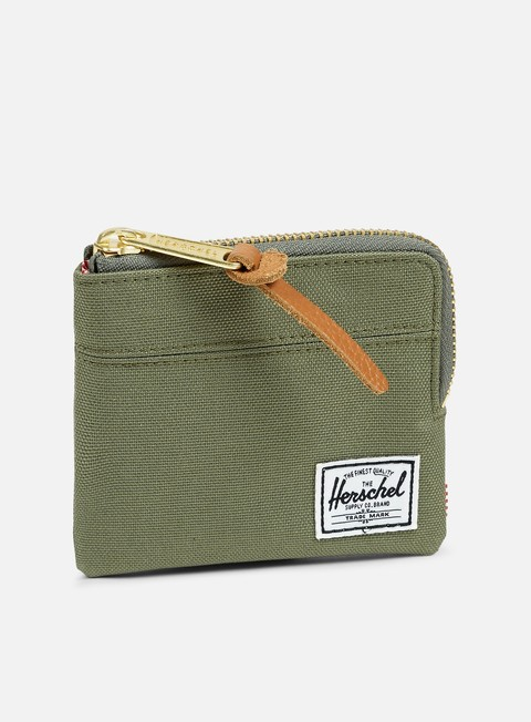 accessori herschel johnny pouch wallet deep litchen green