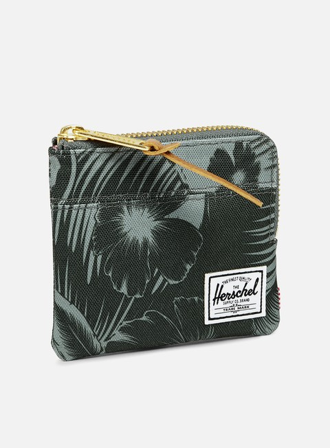 accessori herschel johnny pouch wallet jungle floral