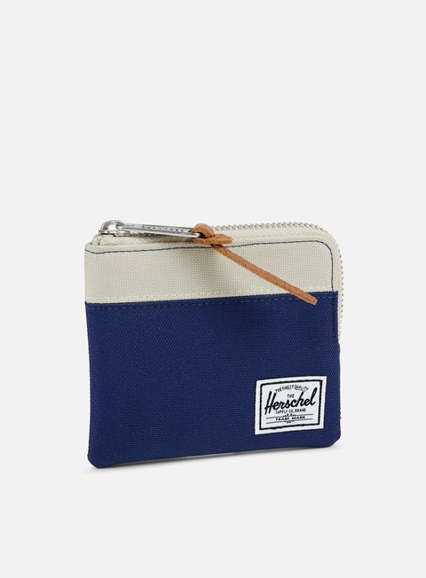 accessori herschel johnny pouch wallet twilight blue