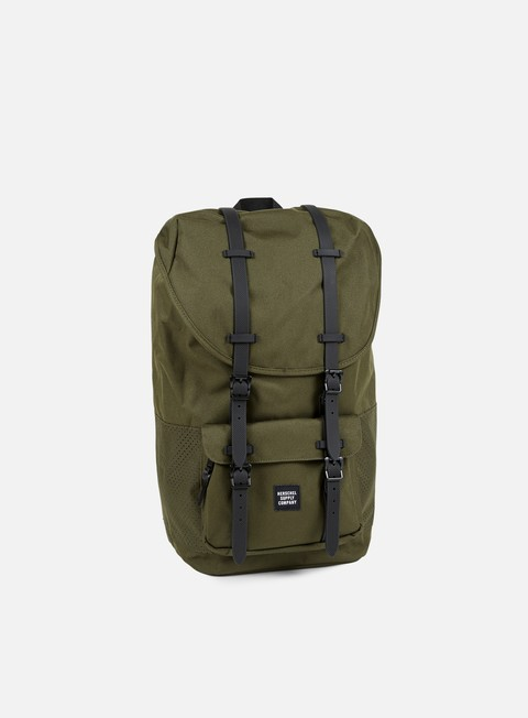 accessori herschel little america backpack aspect forest night black rubber