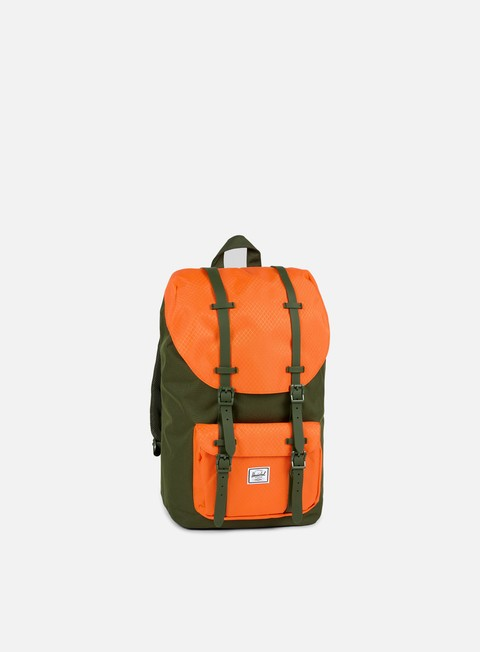accessori herschel little america backpack classic forest night vermillion orange