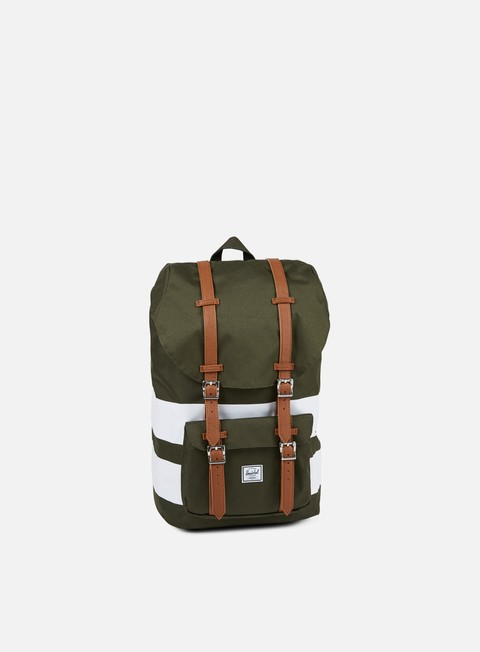 accessori herschel little america backpack classic forest night white rugby stripe