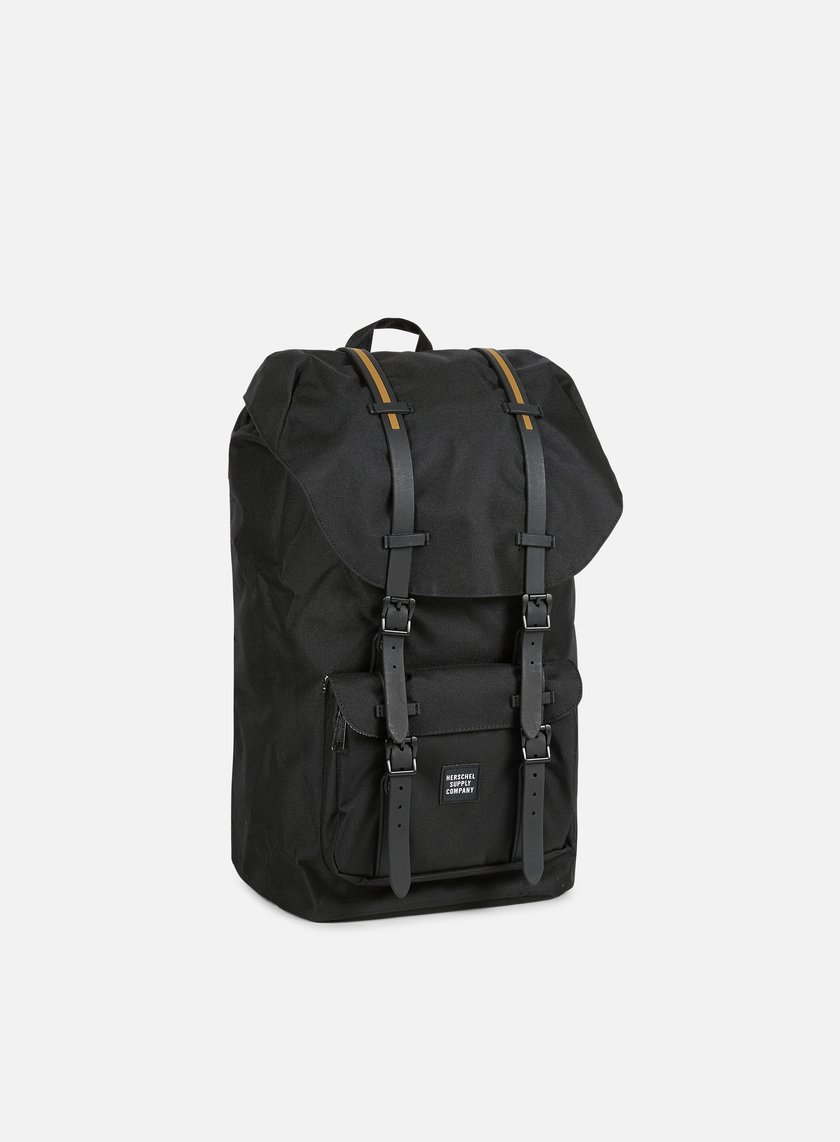 Herschel - Little America Gum Rubber Backpack, Black/Black