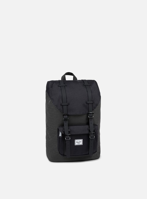accessori herschel little america mid volume backpack classic black grid