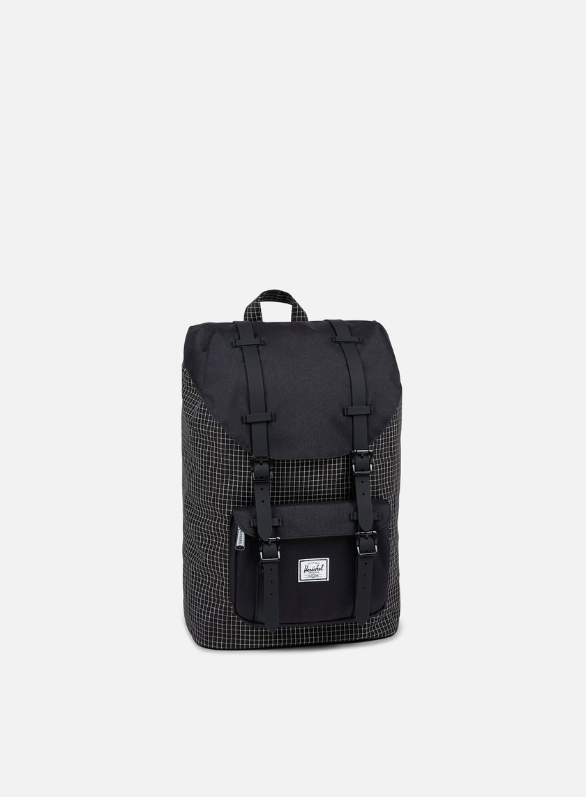 Herschel - Little America Mid Volume Backpack Classic, Black Grid