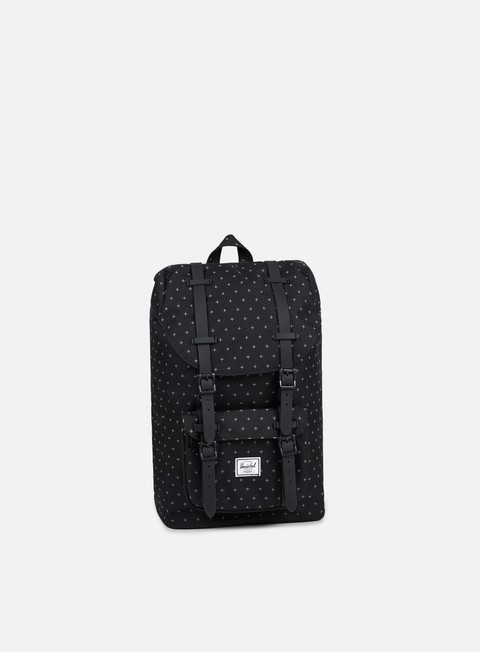 accessori herschel little america mid volume backpack classic black gridlock