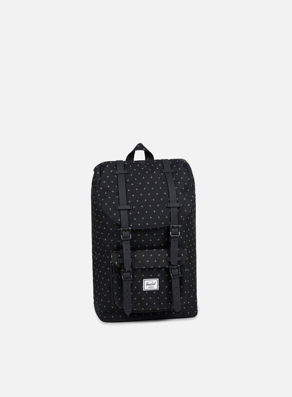 Herschel - Little America Mid Volume Backpack Classic, Black Gridlock