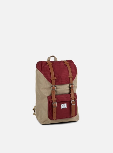 accessori herschel little america mid volume backpack classic brindle windsor wine