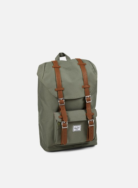 accessori herschel little america mid volume backpack classic deep lichen green