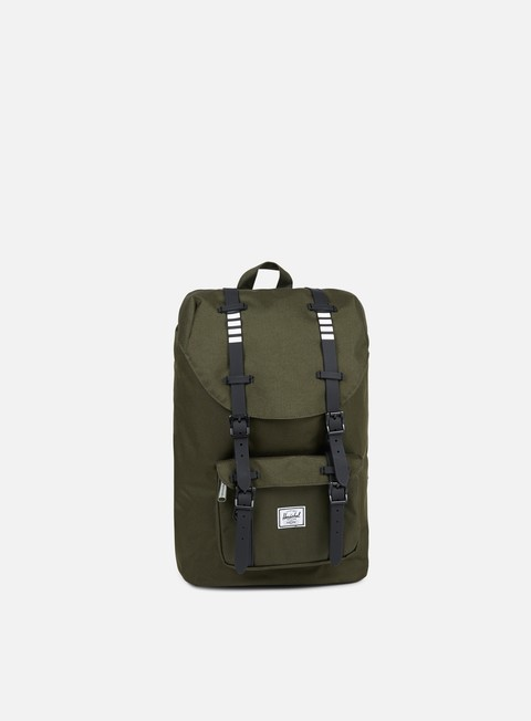 accessori herschel little america mid volume backpack classic forest night black