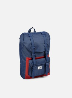 Herschel - Little America Mid Volume Backpack Classic, Navy/Red Block 1