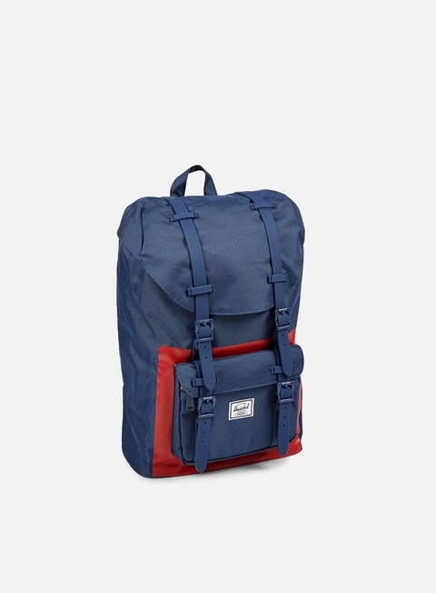 accessori herschel little america mid volume backpack classic navy red block