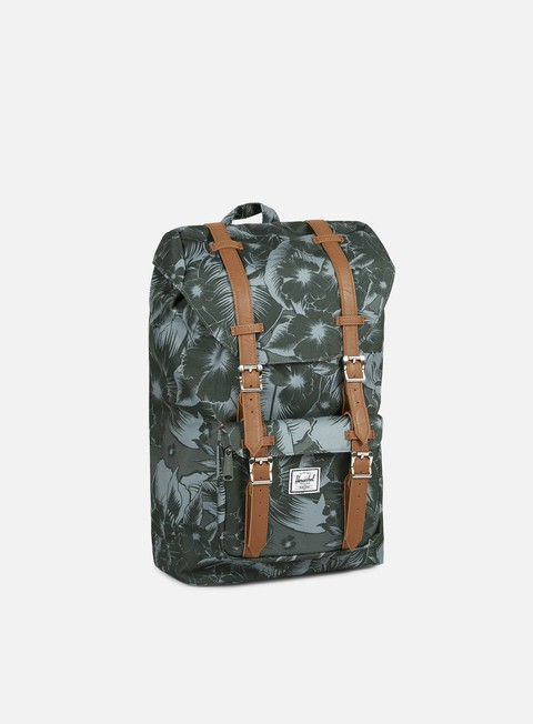 accessori herschel little america mid volume backpack jungle floral