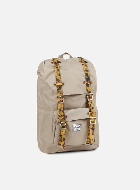 accessori herschel little america mid volume backpack tortoise brindle tortoise