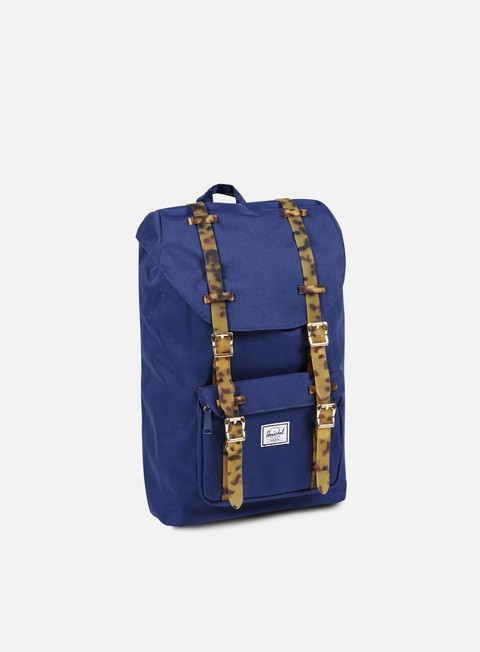 accessori herschel little america mid volume backpack tortoise twilight blue tortoise
