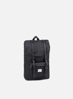 Herschel - Little America Mid Volume Rubber Classic Backpack, Black/Black