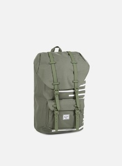 Herschel - Little America Offset Backpack, Deep Lichen Green 1